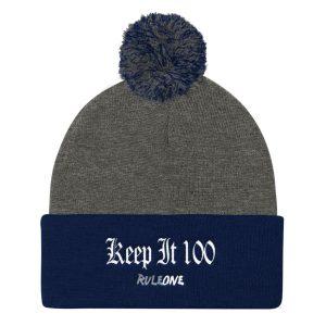 RuleOne – Keep it 100 / Pom Pom Knit Cap