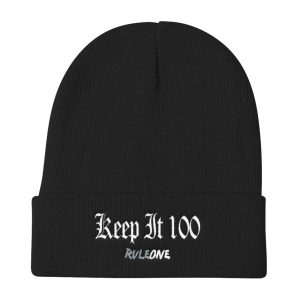 RuleOne – Keep it 100 / Knit Beanie