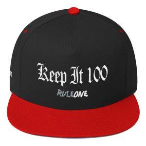 RuleOne – Keep it 100 / Flat Bill Cap